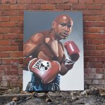 Acrylic Paint Mayweather Canvas