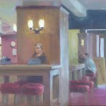 Wetherspoons, oil on canvas